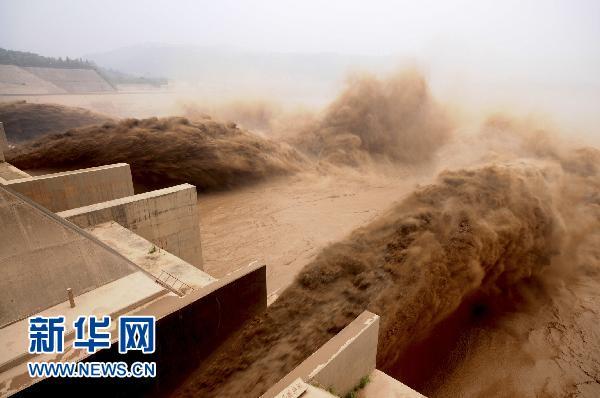 至黄河小浪底水库开始控制泄洪